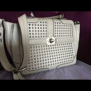 Studded Rebecca Minkoff grey bag